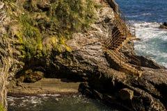 Paesaggio vicino alla riva di mare Immagine Stock