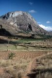 Paesaggio vicino a Ambalavao, Madagascar Immagini Stock