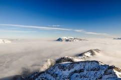 Paesaggio vicino a Garmisch, Zugspitze, Germania di inverno Immagine Stock