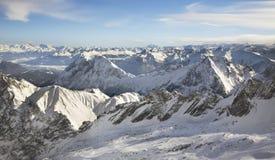Paesaggio vicino a Zugspitze bavaria germany fotografia stock libera da diritti