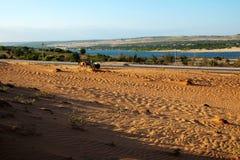 Paesaggio vietnamita, collina della sabbia di Bau Trang Fotografie Stock