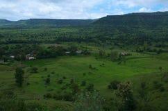 Paesaggio-VII del villaggio di Satara Fotografia Stock Libera da Diritti