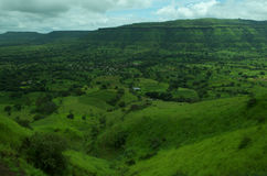Paesaggio-VIII del villaggio di Satara Fotografia Stock Libera da Diritti