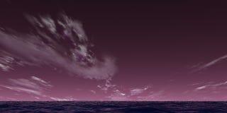 Paesaggio viola Fotografia Stock