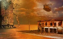 Paesaggio vittoriano di guerra di fantasia Immagini Stock