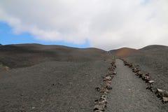 Paesaggio vulcanico Fotografia Stock