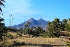 Paesaggio vulcanico a Almeria, Spagna Immagini Stock