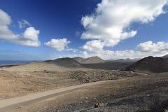 Paesaggio vulcanico dell'isola di Lanzarote Fotografie Stock Libere da Diritti