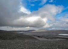 Paesaggio vulcanico di area di Kverkfjoll, altopiani dell'Islanda, Europa fotografia stock libera da diritti