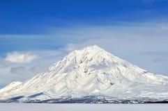 Paesaggio vulcanico di Kamchatka Fotografie Stock