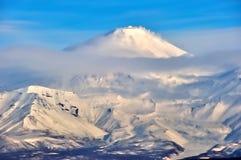 Paesaggio vulcanico di Kamchatka fotografia stock libera da diritti