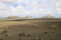 Paesaggio vulcanico 019 di Lanzarote Immagine Stock