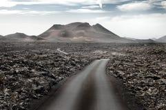 Paesaggio vulcanico di Lanzarote, isole Canarie Fotografia Stock Libera da Diritti
