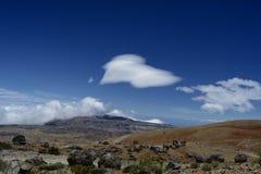 Paesaggio vulcanico irregolare Immagine Stock