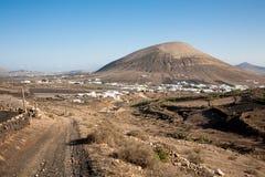 Paesaggio vulcanico, Lanzarote Fotografia Stock