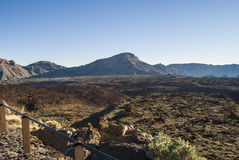 Paesaggio vulcanico (3000 metri sopra il livello del mare) Immagini Stock