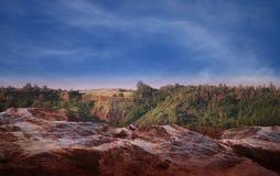 Paesaggio vulcanico Minerali naturali Immagine Stock