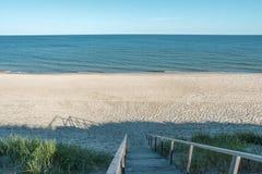 Paesaggio vuoto della spiaggia immagine stock