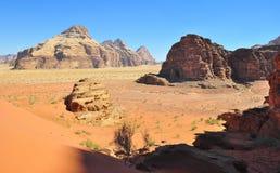 Paesaggio in Wadi Rum immagini stock libere da diritti