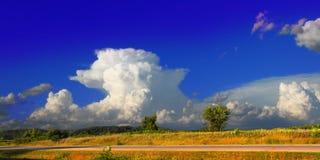 Paesaggio Wisconsin di temporale del Supercell Fotografie Stock Libere da Diritti