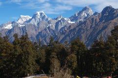 Paesaggio-XIII del passaggio di Kuari di inverno Fotografia Stock Libera da Diritti