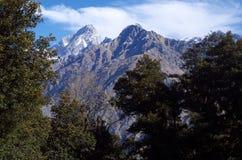 Paesaggio-XV del passaggio di Kuari di inverno Fotografia Stock Libera da Diritti