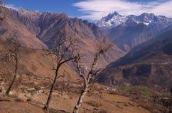 Paesaggio-XVI del passaggio di Kuari di inverno Immagini Stock