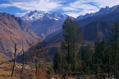 Paesaggio-Xxi del passaggio di Kuari di inverno Fotografie Stock Libere da Diritti
