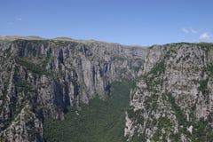 Paesaggio Zagoria Grecia della gola di Vikos Fotografie Stock