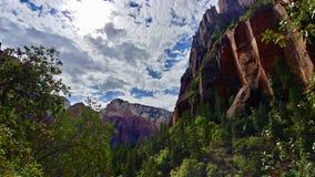 Paesaggio a Zion National Park fotografia stock
