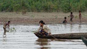 Paesani della linfa di Tonle, Cambogia Fotografia Stock Libera da Diritti