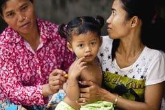 Paesani in Kampuchea Fotografia Stock Libera da Diritti