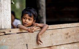 Paesani in Kampuchea Immagini Stock Libere da Diritti