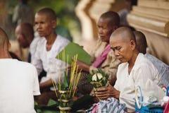 Paesani in Kampuchea Immagine Stock