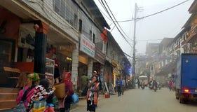 Paesani nel PA del Sa, Vietnam di Hmong Fotografia Stock Libera da Diritti