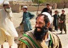 Paesano afgano sorridente fotografia stock