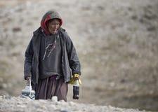 Paesano da Korzok, Ladakh Fotografia Stock Libera da Diritti