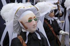 Paesant el martes de carnaval en el carnaval de Binche, Valonia, Bélgica foto de archivo libre de regalías