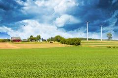 Paese americano con il cielo tempestoso Fotografia Stock
