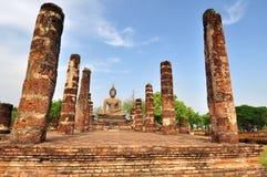 Paese anziano della città di rovina di Sukhothai, Tailandia Immagini Stock