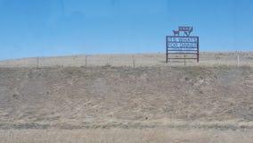 Paese del manzo del Wyoming Immagini Stock Libere da Diritti
