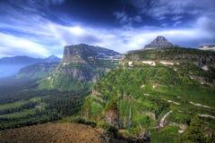 Paese dell'alta montagna Immagini Stock