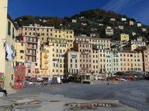Paese dell'Italia sul mare Fotografie Stock Libere da Diritti
