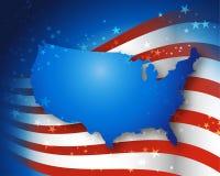 Paese della bandiera americana Fotografia Stock Libera da Diritti