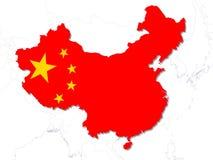 Paese della Cina Fotografia Stock