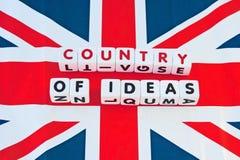 Paese della Gran-Bretagna delle idee Immagini Stock Libere da Diritti