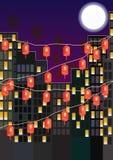 Paese della lanterna della luna Fotografia Stock Libera da Diritti