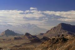 Paese della roccia intorno a Yazd Fotografia Stock