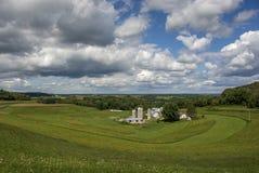 Paese di Coulee di sud-ovest Wisconsin Fotografie Stock
