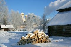 Paese di inverno Fotografia Stock Libera da Diritti